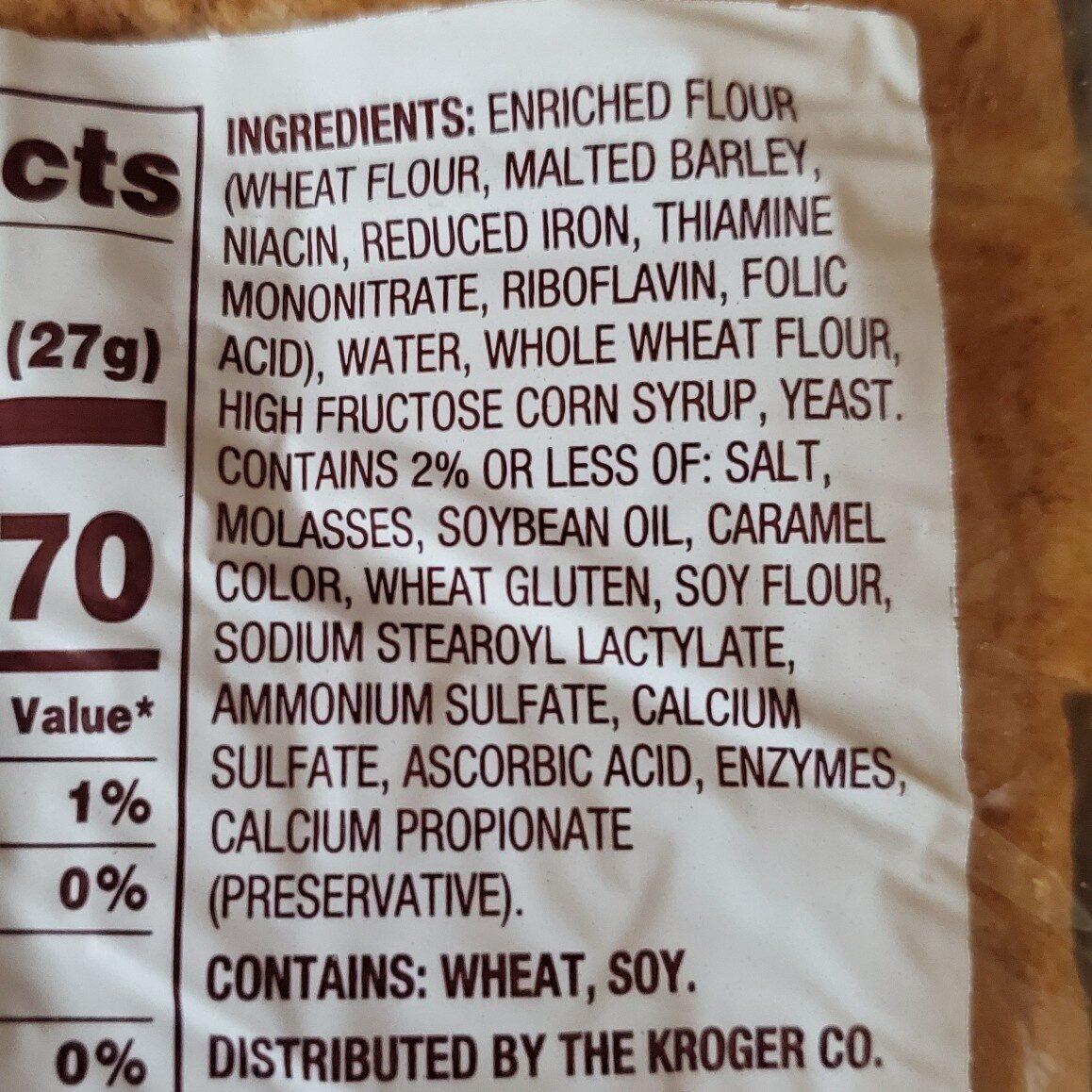 Good to Dough wheat bread - Ingredients - en