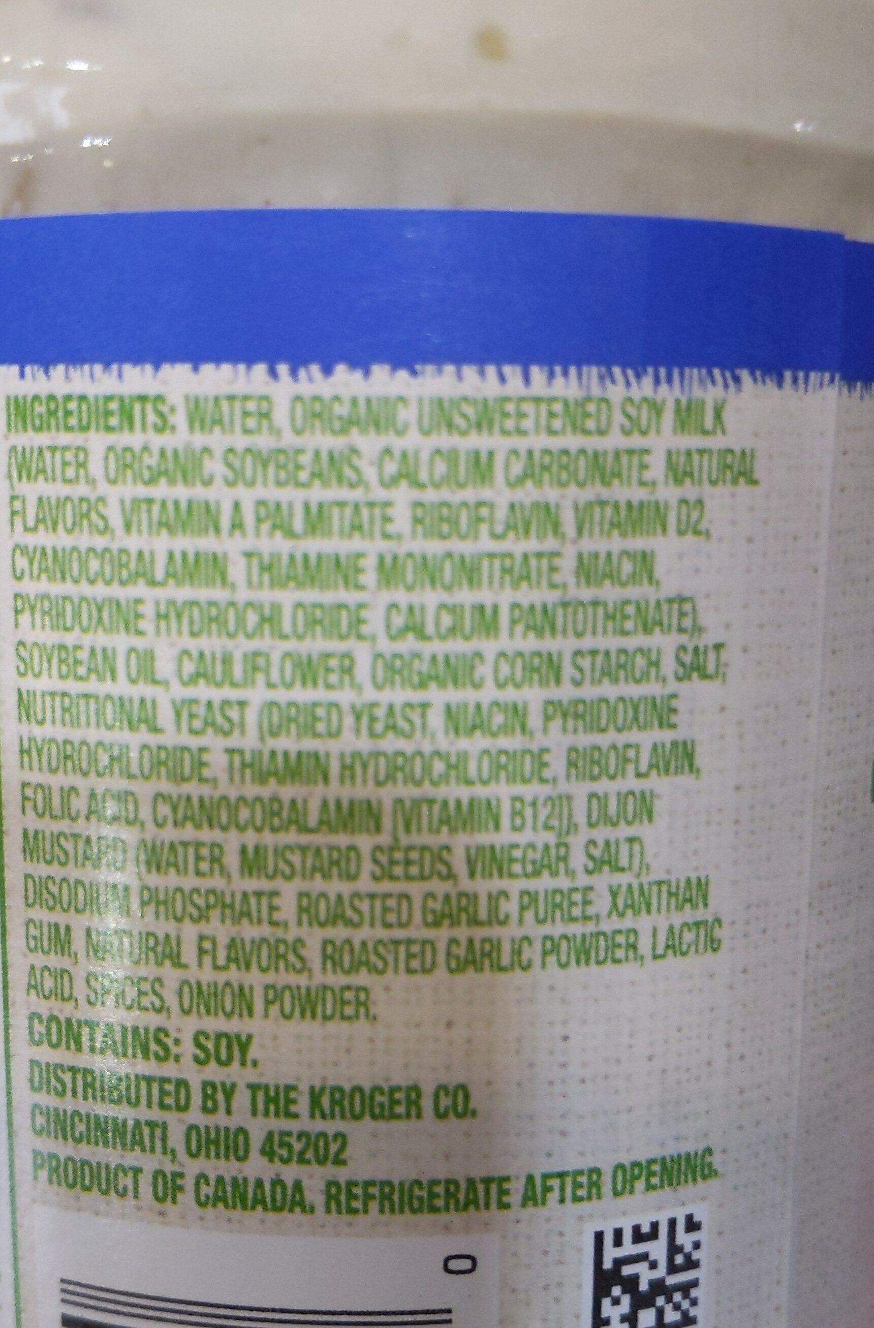 Plant based vegan alfredo pasta sauce - Ingredients - en