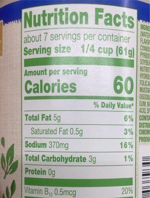 Plant based vegan alfredo pasta sauce - Nutrition facts - en