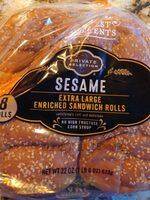 Private selection sesame sandwich rolls - Product - en