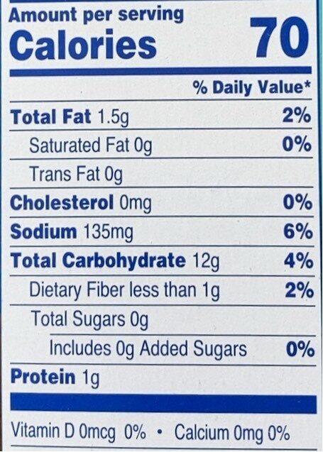 Saltines - Nutrition facts - en