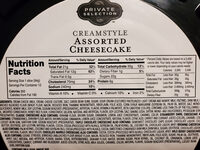Creamstyle Assorted Cheesecake - Nutrition facts