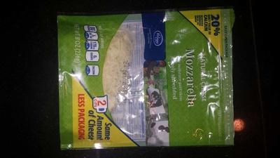 Mozzarella, finely shredded - Product