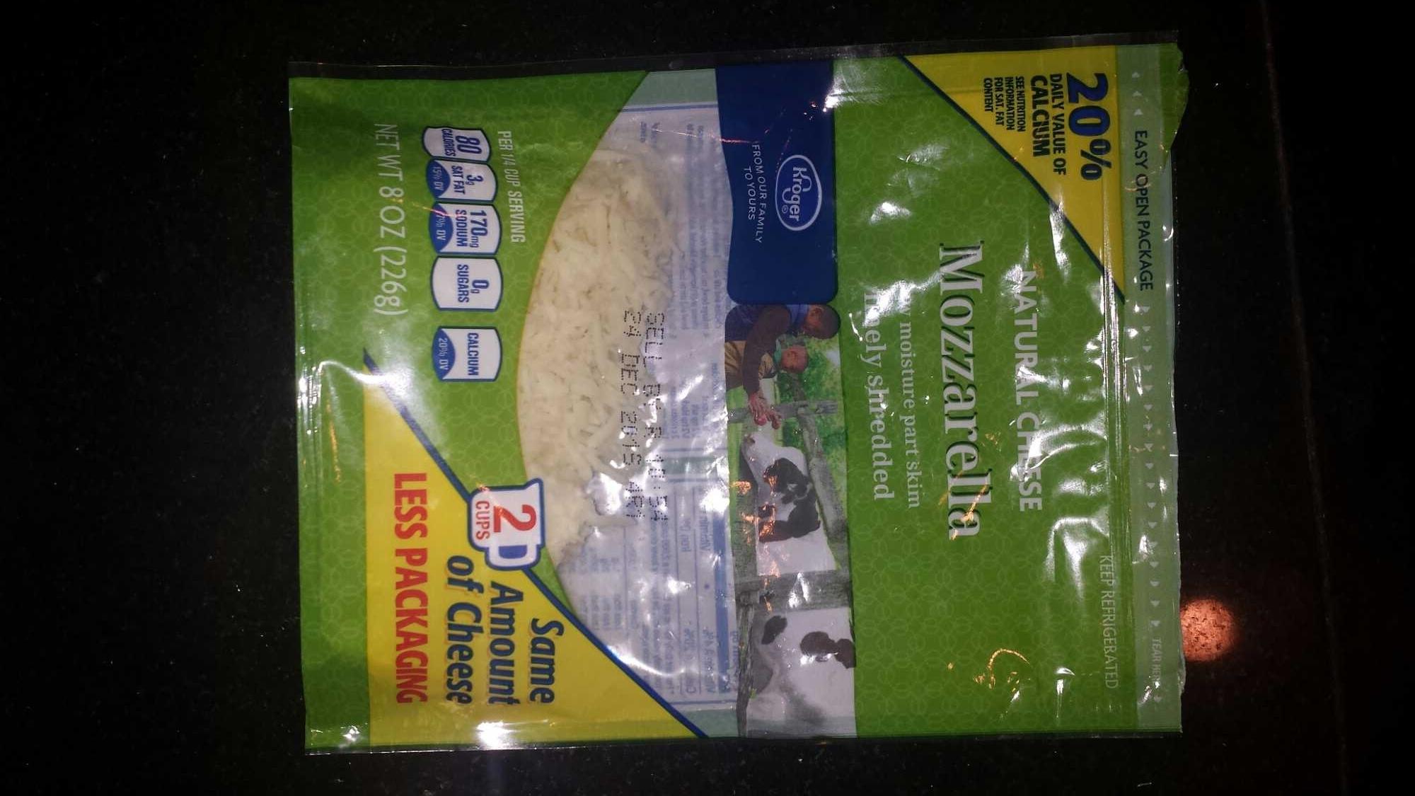 Kroger, mozzarella finely shredded cheese - Product - en