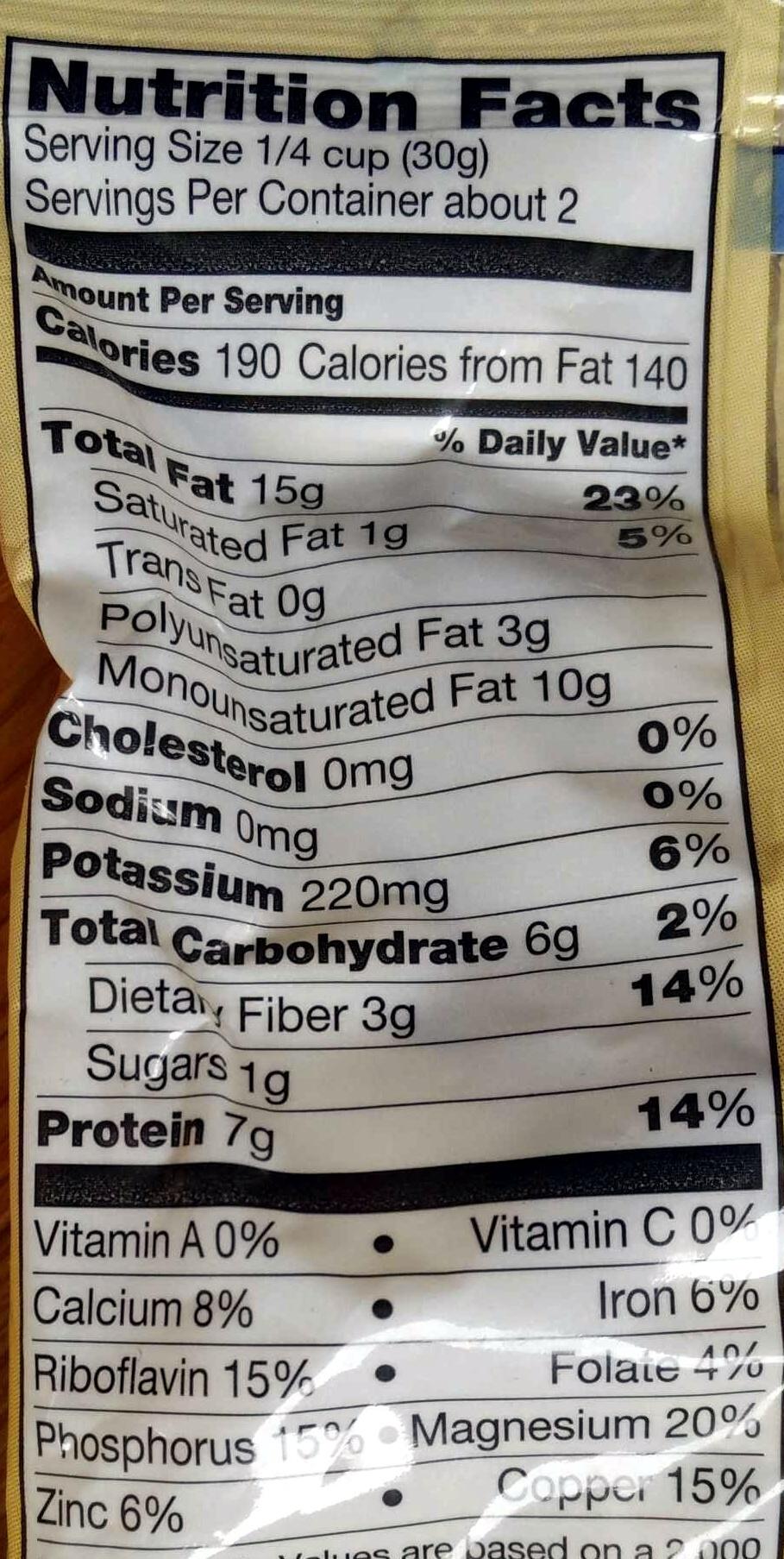Sliced Almonds - Voedigswaarden