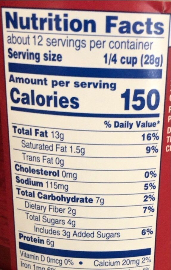 Honey roasted peanuts - Informations nutritionnelles - en