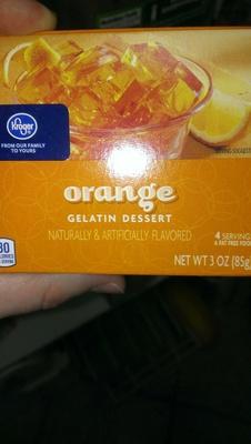 Orange Gelatin Dessert - Product