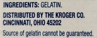Unflavored Gelatin - Ingredients