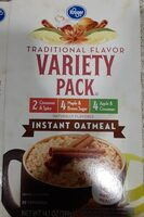 Traditional flavor variety pack instant oatmeal - Product - en