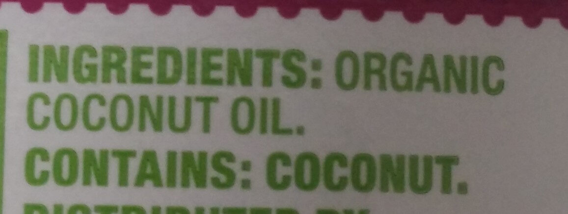 Coconut Oil - Ingredients