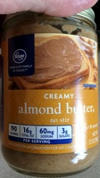 Kroger, creamy almond butter - Product