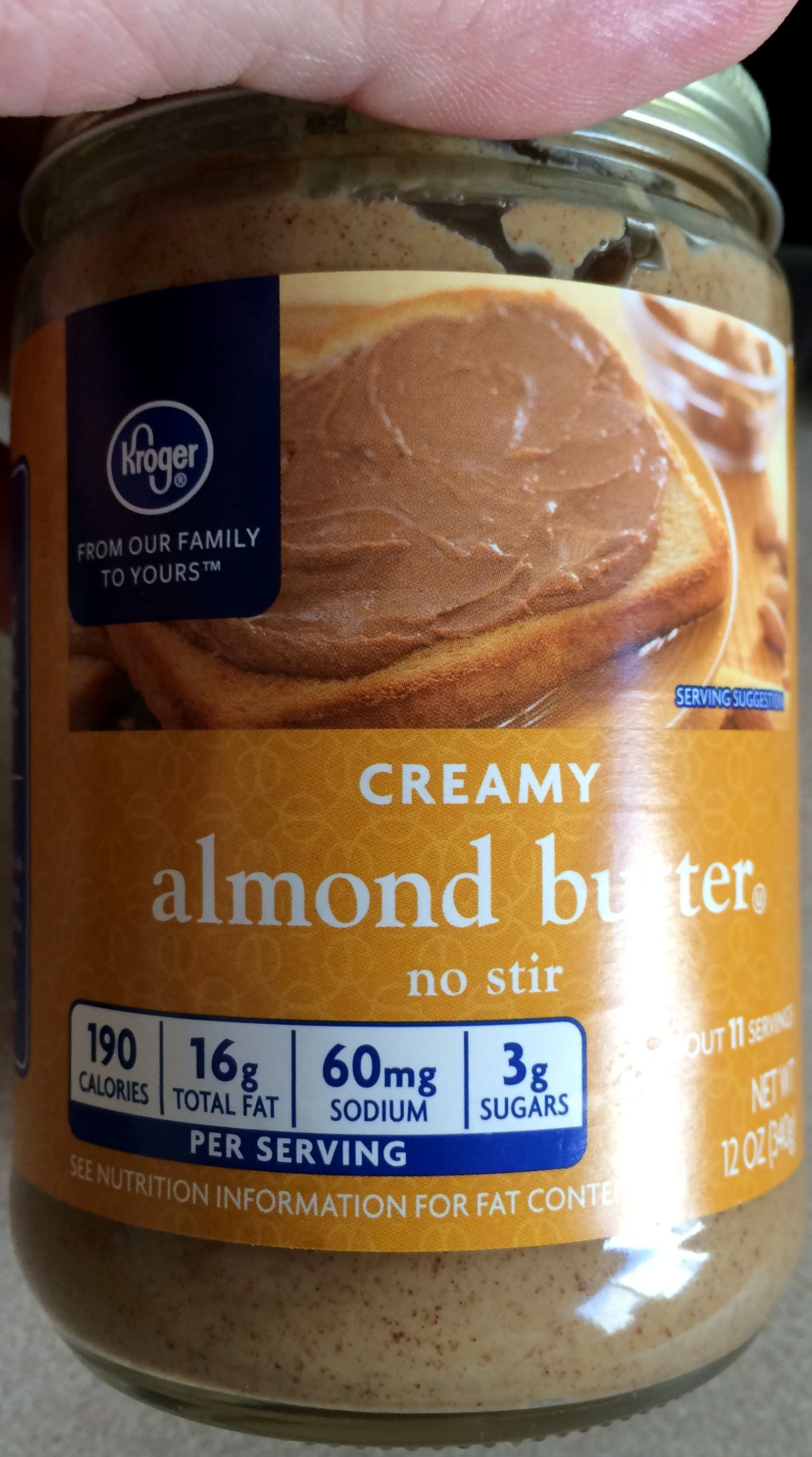 Kroger, creamy almond butter - Produit - fr