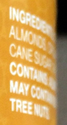 Creamy Almond Butter - Ingredients