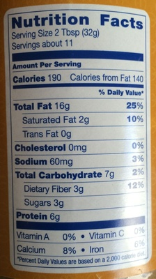 Creamy Almond Butter - Nutrition facts