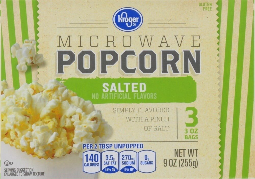 Salted microwave popcorn - Prodotto - en