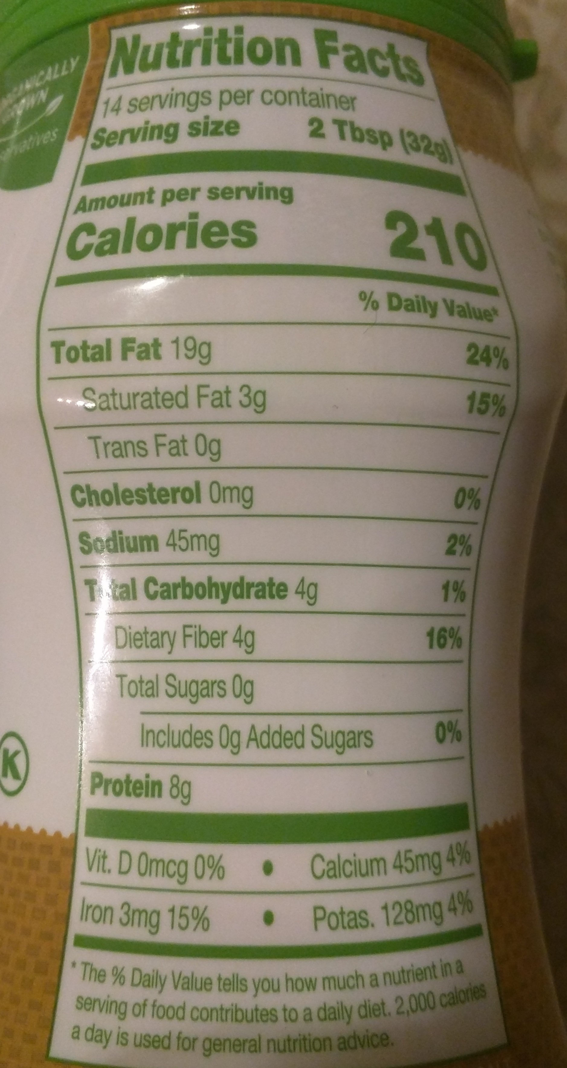 Tahini - Nutrition facts