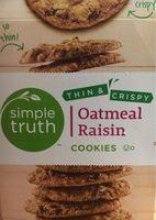 Oatmeal raisin cookies - Produit - fr