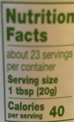 Fruit Spread, Concord Grape - Informations nutritionnelles