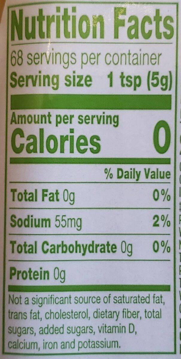 Yellow mustard - Información nutricional - en