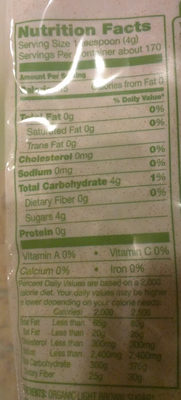 Light brown sugar - Nutrition facts