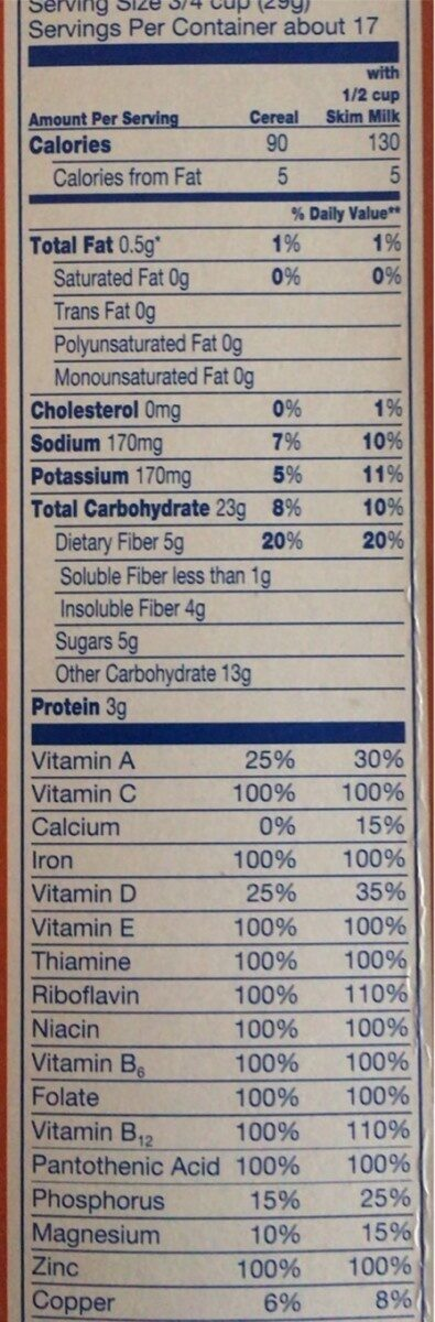 Bran Flakes - Nutrition facts - en