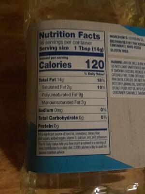 Pure Vegetable Oil - Nutrition facts - en