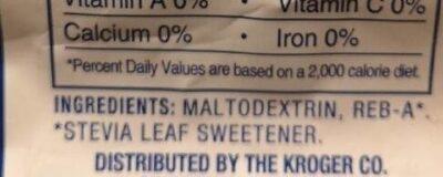 Stevia - Ingredients