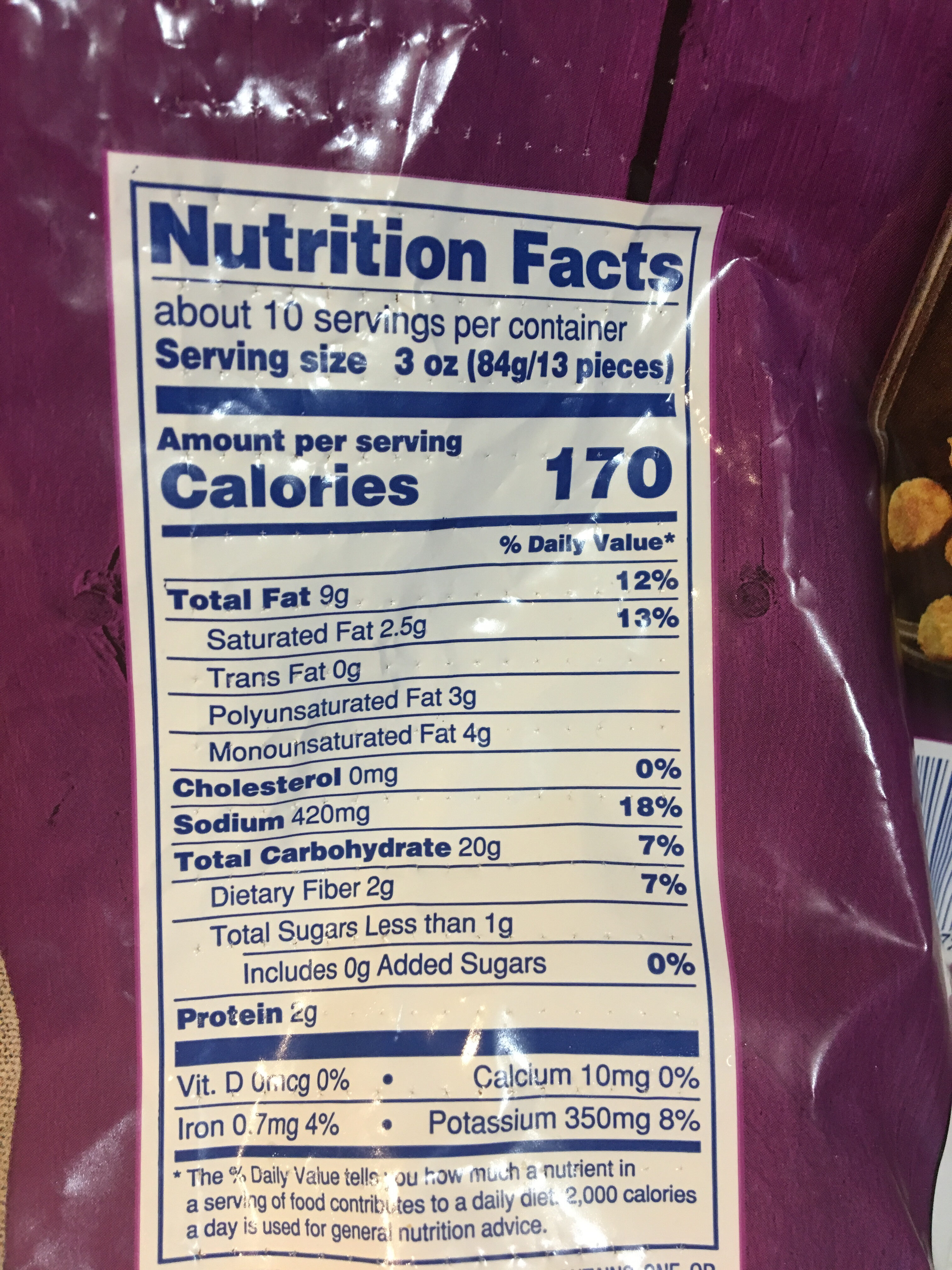 Tater rounds - Nutrition facts - en