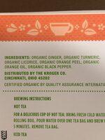 Ginger Turmeric Herbal Tea - Ingredients - en