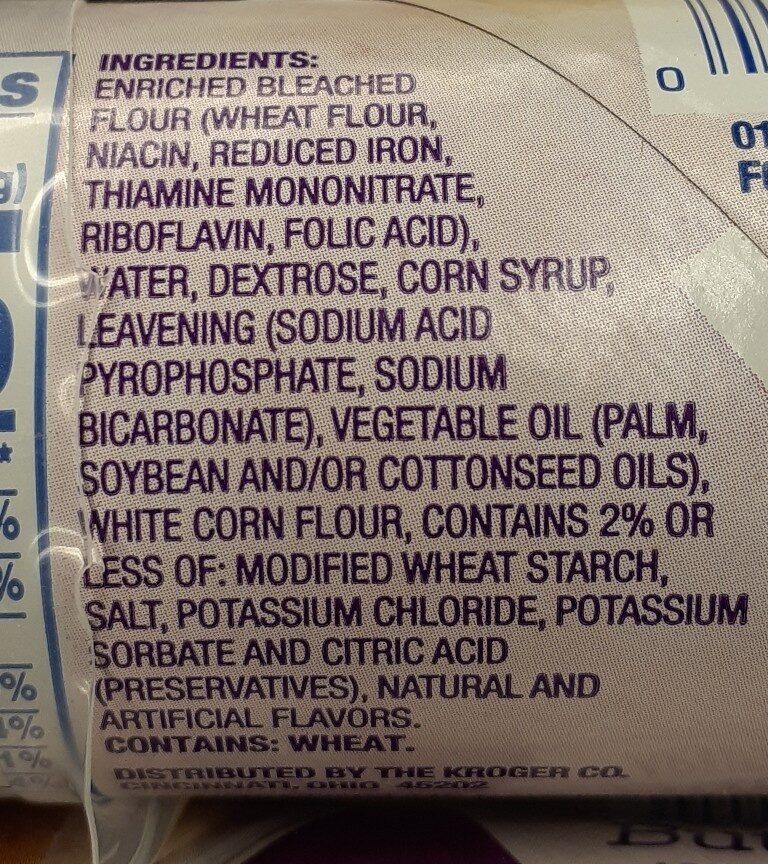 Kroger biscuits - Ingredients - en