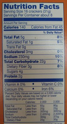 Kroger Baked Wheat Crisp Crackers - Nutrition facts - en