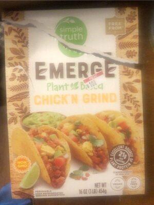 Emerge Plant based chick'n grind - Product - en
