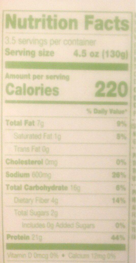 Emerge Plant based chick'n grind - Nutrition facts - en