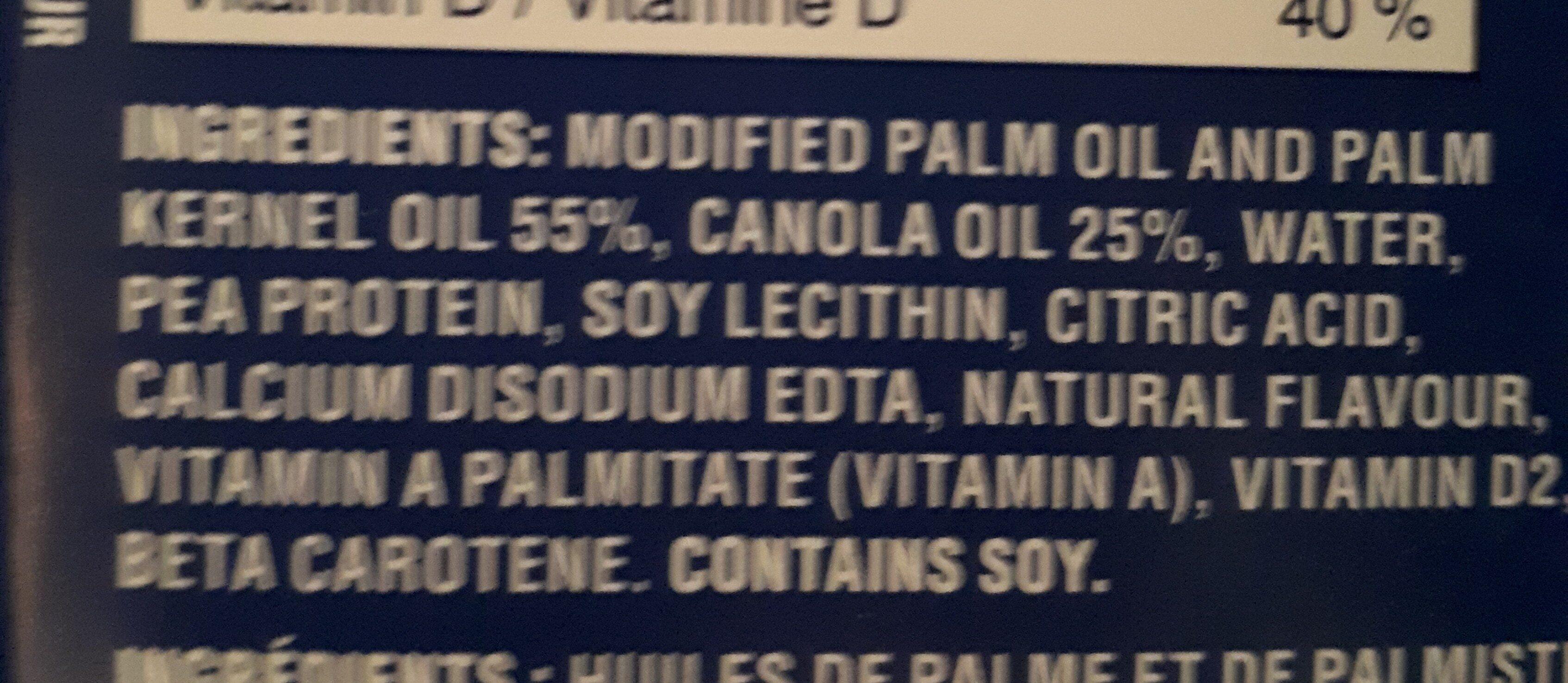 Unsalted plant based oils sticks - Ingrédients - fr
