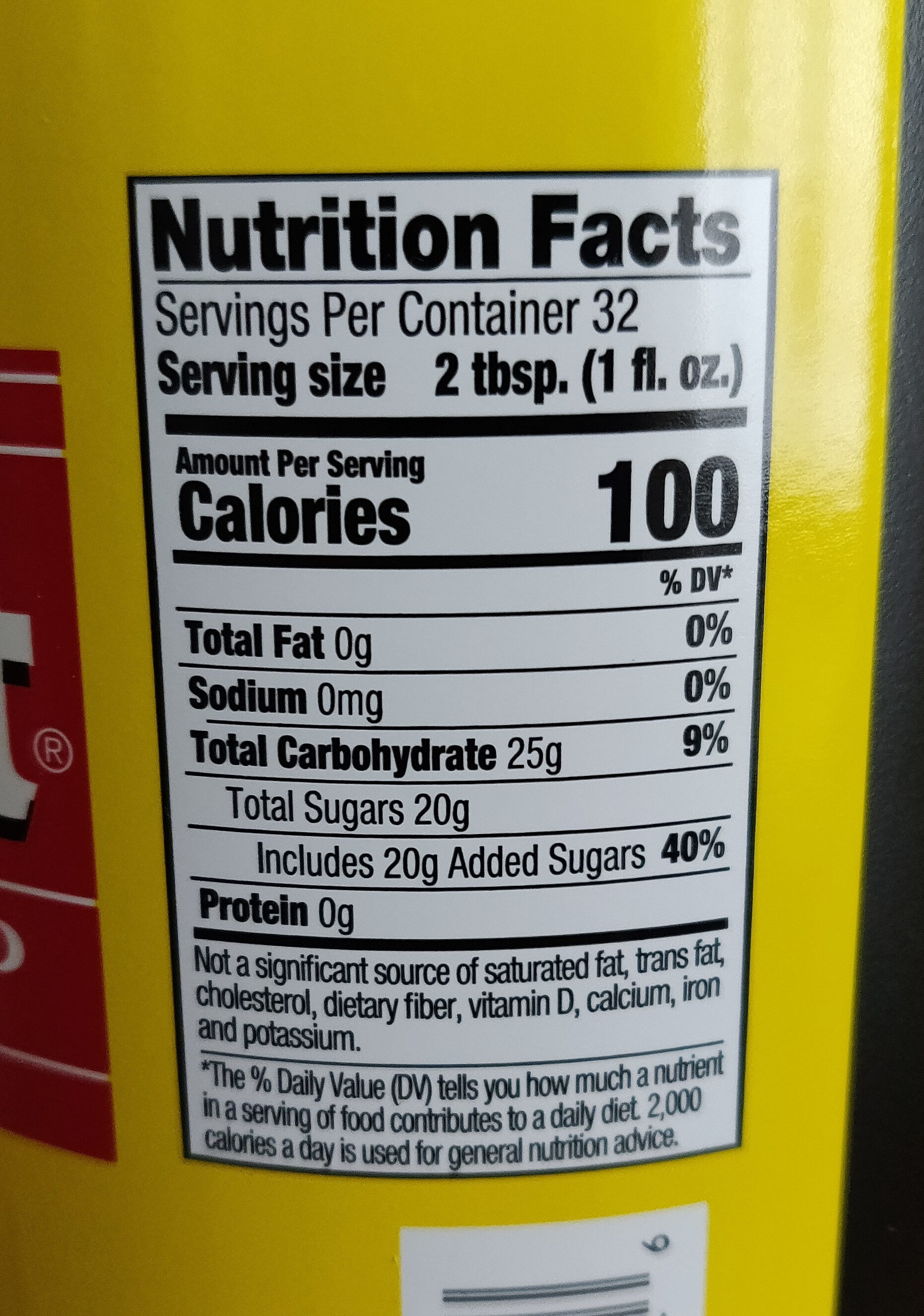 Coffee Syrup - Nutrition facts - en