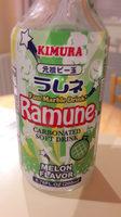 Kimura ramune melon flavor carbonated soft drink - Produit - fr