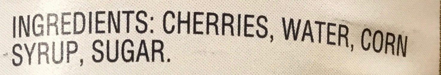 Premium pitted cherries in extra heavy syrup - Ingredientes - en