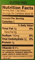 Green Pepper Sauce - Informations nutritionnelles - fr