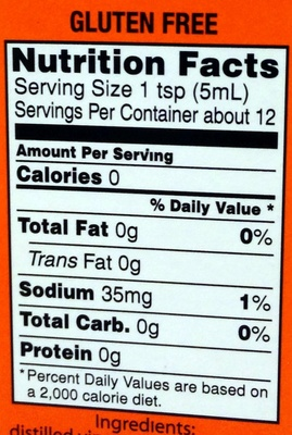 Pepper Sauce - Nutrition facts