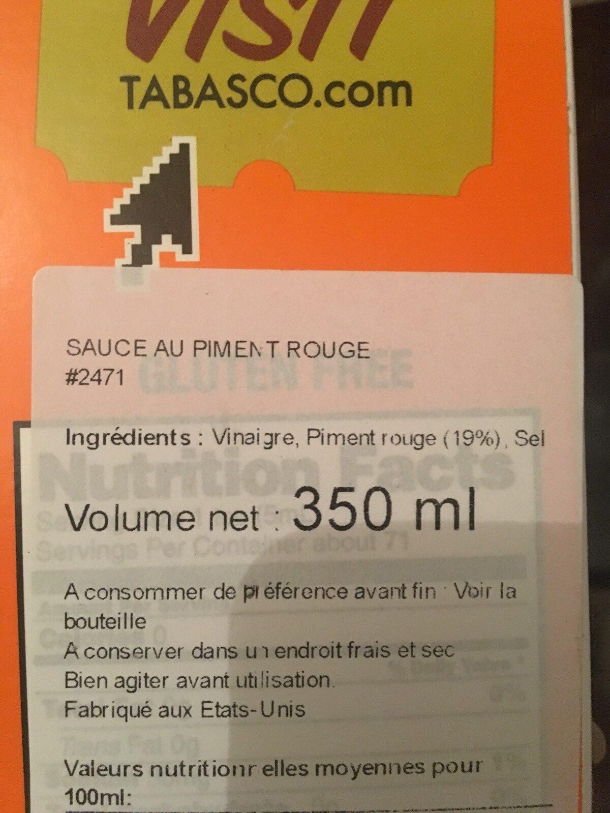 Sauce Au Piments Original - Ingrédients - fr