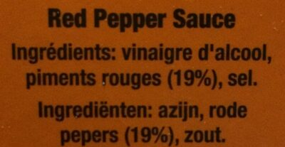 Tabasco Pepper Sauce - Ingrediënten