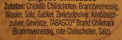 Tabasco Chipotle - Ingredients
