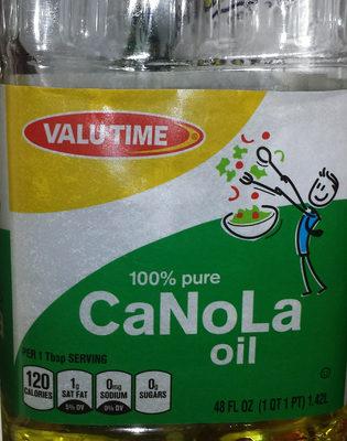 100% Pure Canola Oil - Product