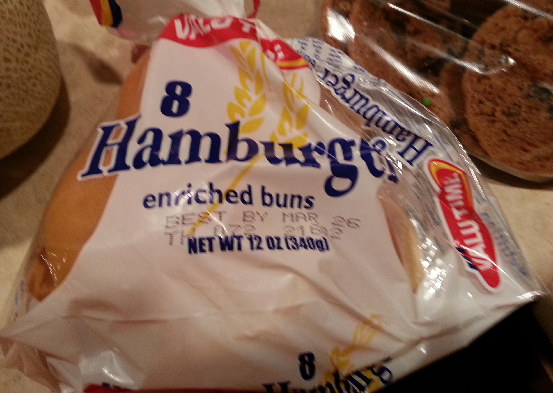 8 Hamburger Buns - Product
