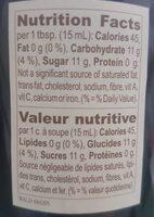 Confiture baies des bois - Informations nutritionnelles - fr