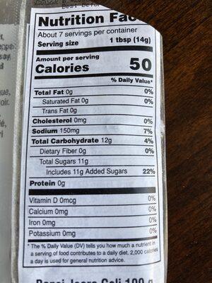 Bansi Jeera Goli - Nutrition facts - en