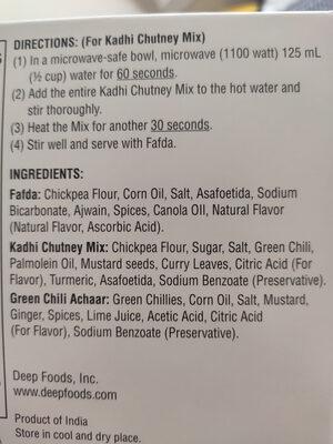 Fafda - Ingredients - en