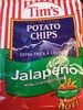 Tims extra thick and crunchy jalapeno potato chips - Product