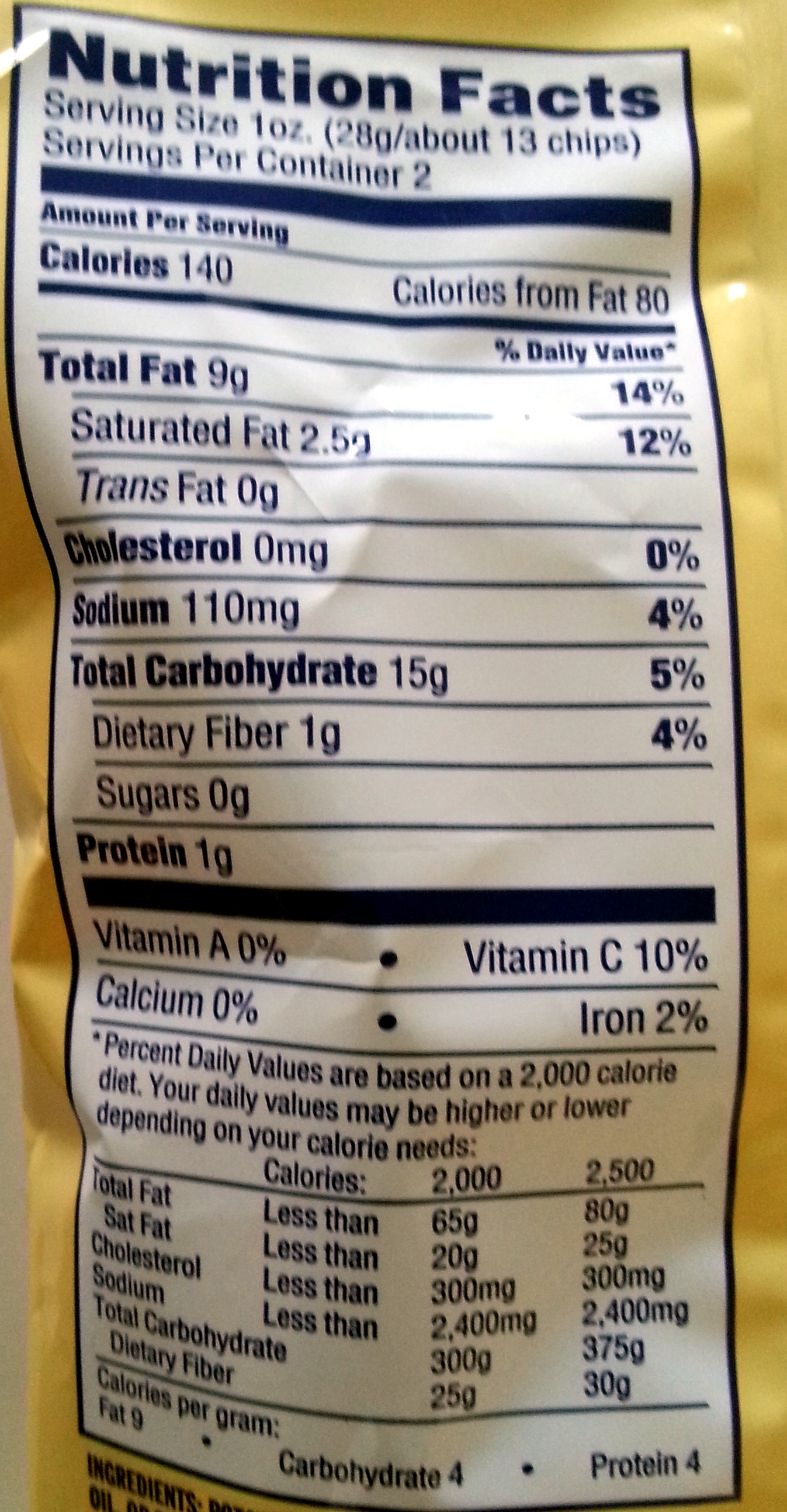Original Kettle Style Potato Chips - Nutrition facts - en