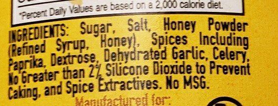 Meat Church Honey Hog bbq spice - Ingredients - en